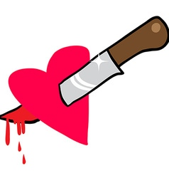 knife through heart vector image