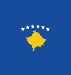 kosovo flag for independence day and infographic vector image