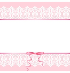 Lace on pink background vector