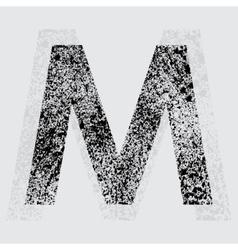 Letter M vector
