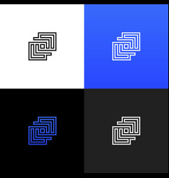 linear geometric square logo geometric square vector image