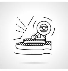 Longboard suspension black line icon vector image