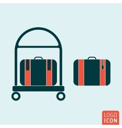Luggage icon isolated vector image