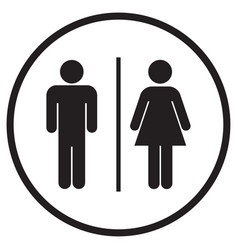 male and female bathroom icon vector image