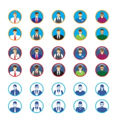 Male and female faces icons avatars vector image