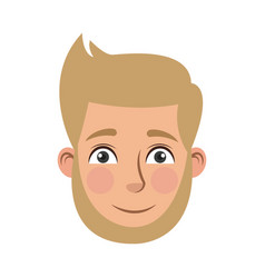 Man cartoon face male facial expression vector