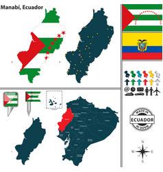 Map of manabi ecuador vector