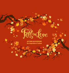nature fall template for design vector image
