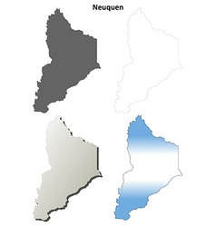 Neuquen blank outline map set vector