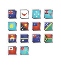 oceania country flag vector image