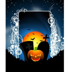 On a halloween theme with pumpkin vector