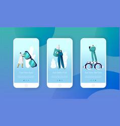 ophthalmologist doctor check eye health mobile app vector image