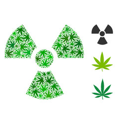 Radioactivity mosaic of marijuana vector