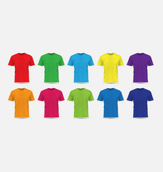 realistic t-shirt flesh color front view vector image