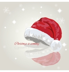 Santa hat holiday card merry christmas vector