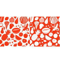 scandinavian hand drawn fruit seamless vector image
