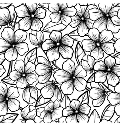seamless background blossoming branches trees vector image