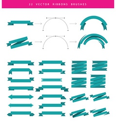 Set include 22 ribbons vector image