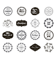 set various small business badges vector image