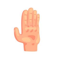 Stop gesture hand sign cartoon vector