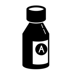 syrup bottle icon simple style vector image