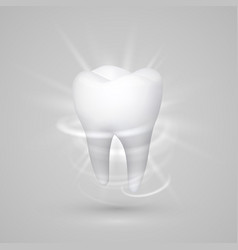 Tooth on a white background template design vector
