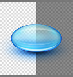 Translucent soft gel capsule eps 10 vector