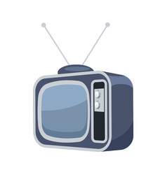 Vintage tv set isolated icon vector