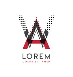 wa logo with gray and red color that can be used vector image
