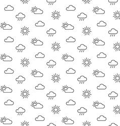 Weather sun clouds seamless pattern vector image