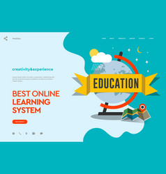 web page design template of distance education vector image