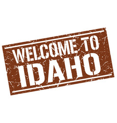 Welcome to idaho stamp vector