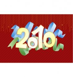 2010 vector image vector image