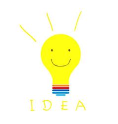 smile idea vector image