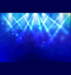 spotlights lighting disco party stage with blured vector image vector image