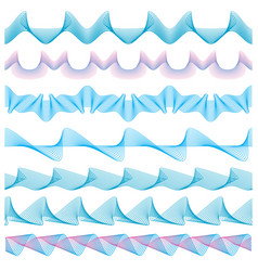 currency pattern seamless guilloche borders vector image