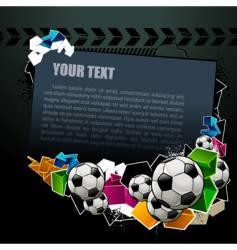 football graffiti banner vector image