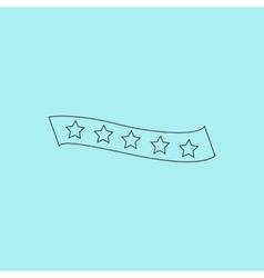 Recommended bestseller star ribbon vector image