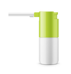 white glossy oral spray bottle vector image vector image
