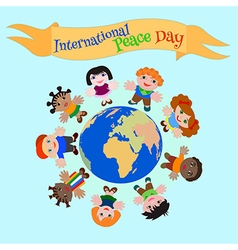 Childs peace day vector image