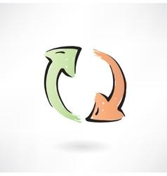 refresh grunge icon vector image
