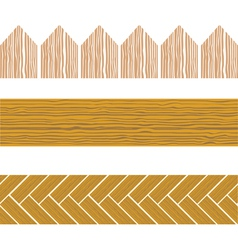 seamless wood border vector image