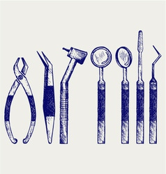 Set of medical tools vector image vector image