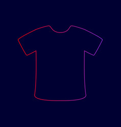 t-shirt sign line icon with gradient from vector image