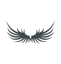 Two grey wing icon flat style vector image vector image