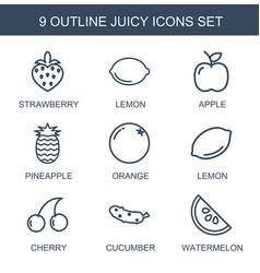 9 juicy icons vector
