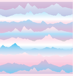 Abstract wavy mountain skyline background nature vector