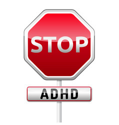 Adhd - attention deficit hyperactivity disorder vector