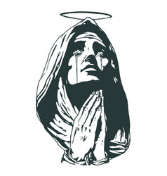 Ave maria hail mary prayers vector