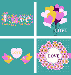 Big set of icons for valentines day mothers day vector